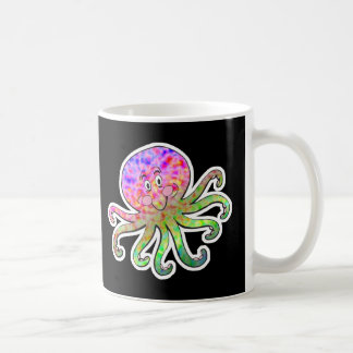 cute tie dye octopus coffee mug
