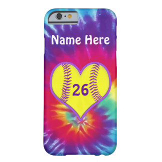 Cute Tie Dye Softball Phone Cases PERSONALIZED