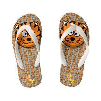 Cute Tiger 2 Kid's Flip Flops