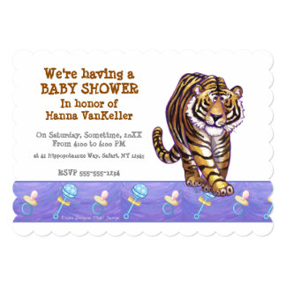 Cute Tiger Baby Shower Card