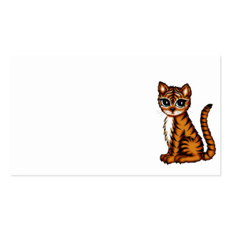 cute tiger business cards