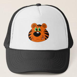 Cute Tiger Cartoon head Trucker Hat