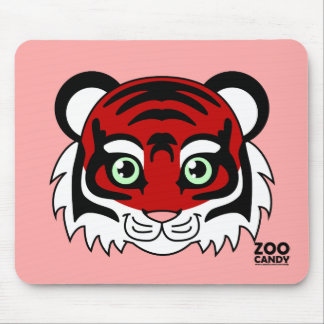 Cute Tiger Cherry Mouse Pad