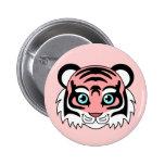 Cute Tiger Cotton Candy Button
