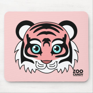 Cute Tiger Cotton Candy Mouse Pad