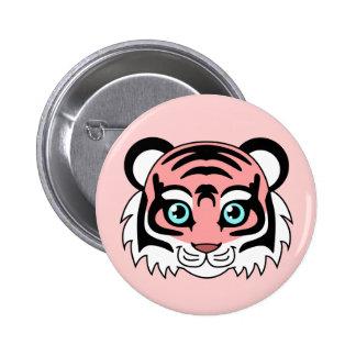 Cute Tiger Cotton Candy Pinback Button