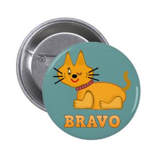 Cute tiger cub cat animal pet brave bravo cartoon 2 inch round button