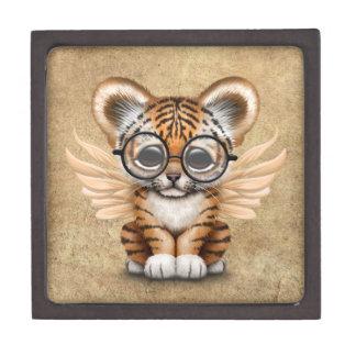 Cute Tiger Cub Fairy Wearing Glasses Gift Box