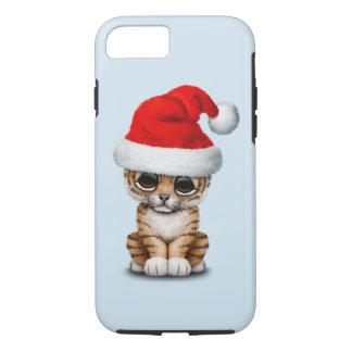 Cute Tiger Cub Wearing a Santa Hat iPhone 8/7 Case