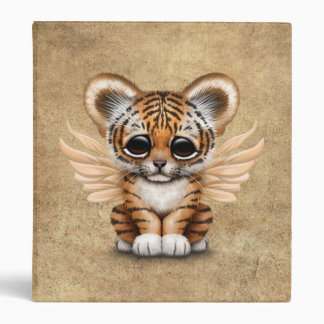 Cute Tiger Cub with Fairy Wings 3 Ring Binders