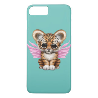 Cute Tiger Cub with Fairy Wings on Pink iPhone 8 Plus/7 Plus Case