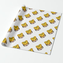 Cute Tiger Emoji Wrapping Paper