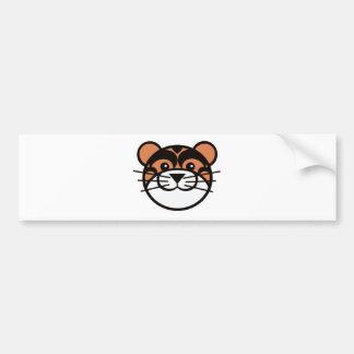 cute tiger face bumper sticker