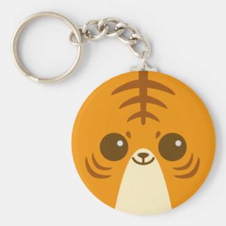 Cute Tiger Face Keychains