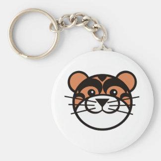 cute tiger face key chain