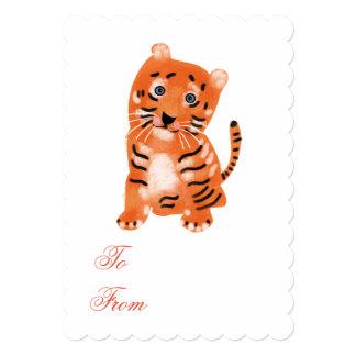 Cute tiger invitation. card
