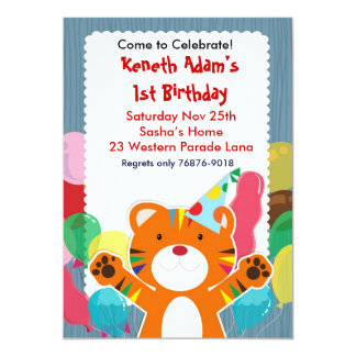 Cute Tiger - Kids Birthday Party invitation