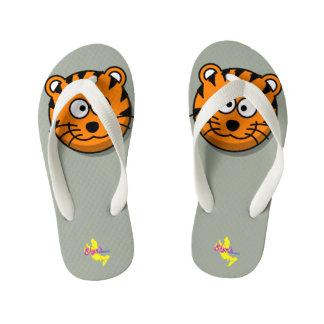 Cute Tiger Kid's Flip Flops