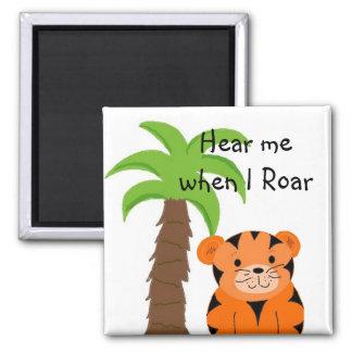 Cute Tiger Saying Magnet