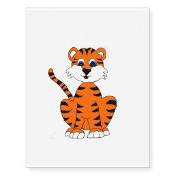 Cute Tiger temporary tattoo