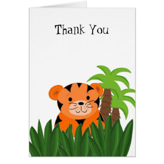 Cute Tiger Thank You Greeting Card