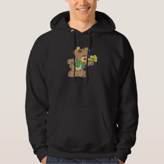 cute time for a party celebration teddy bear desig hoodie