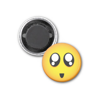 Cute & tiny big teary eyes emoji 1 inch round magnet