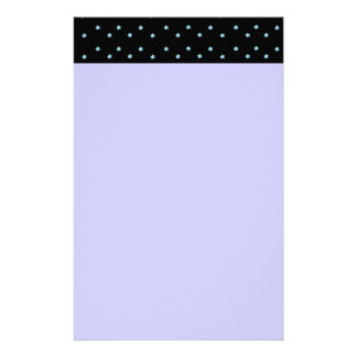 Cute Tiny Blue Stars Stationery