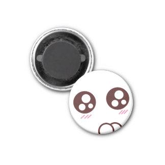 Cute & tiny kawaii kitty emoji 1 inch round magnet
