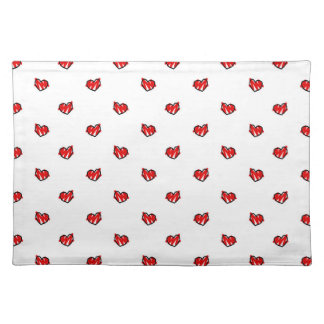Cute Tiny Valentine Hearts Cloth Placemat