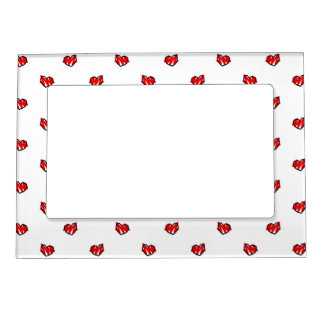 Cute Tiny Valentine Hearts Magnetic Photo Frame