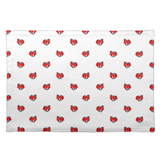 Cute Tiny Valentine Hearts Placemat