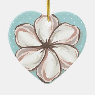 cute to flower ceramic ornament