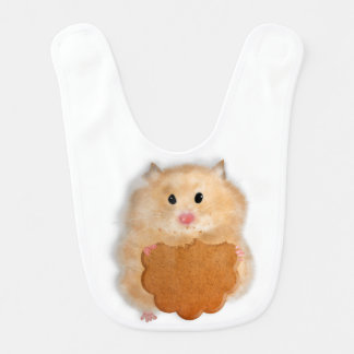 Cute to hamster with biscuit baby bib