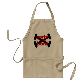 Cute To The Bone With Crossbones Adult Apron