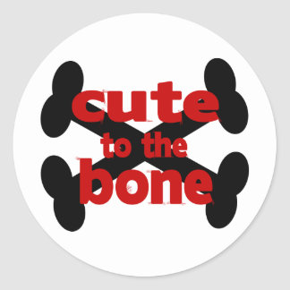 Cute To The Bone With Crossbones Classic Round Sticker