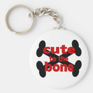 Cute To The Bone With Crossbones Keychain