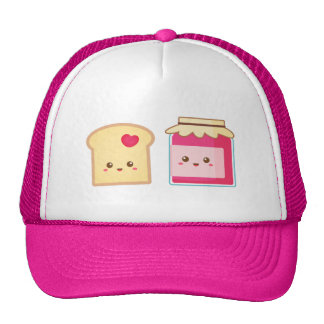 Cute Toast and Strawberry Jam, Spread Love Hat