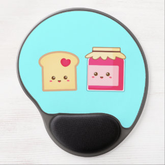 Cute Toast and Strawberry Jam, Spread the Love Gel Mouse Mat