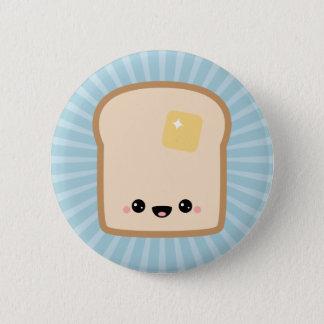 Cute Toast Pinback Button