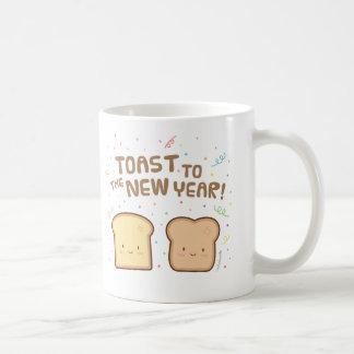 Cute Toast to the New Year Pun Humor Confetti Coffee Mug