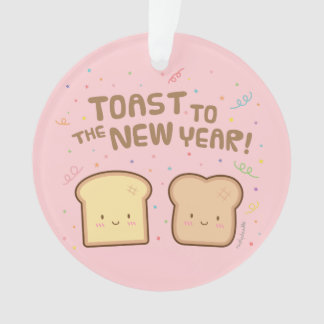 Cute Toast to the New Year Pun Room Decor