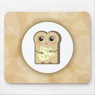 Cute Toasties - Cheese Cream and Chives Mouse Pad