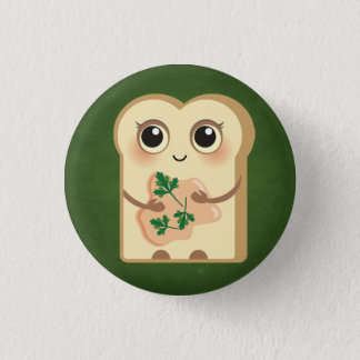 Cute Toasties - Salmon Paté and Parsley Pinback Button