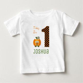 Cute Today I'm 1 Little Pumpkin Birthday Baby T-Shirt
