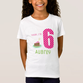 Cute Today I'm 6 Birthday Cake Party T-Shirt