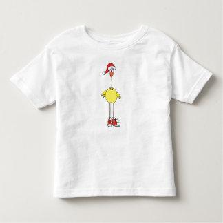 Cute, Toddler Christmas Shirt. Santa Hat on a Bird Toddler T-shirt