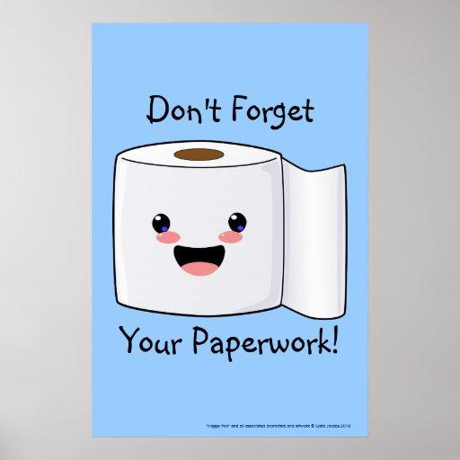 Cute Toilet Paper Poster Print | Zazzle