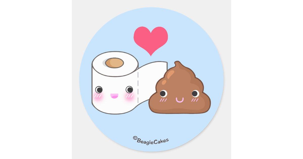 cute bff poop toilet sticker zazzle