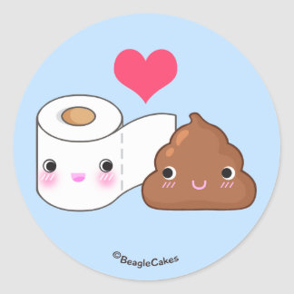 Cute Toilet & Poop BFF Sticker